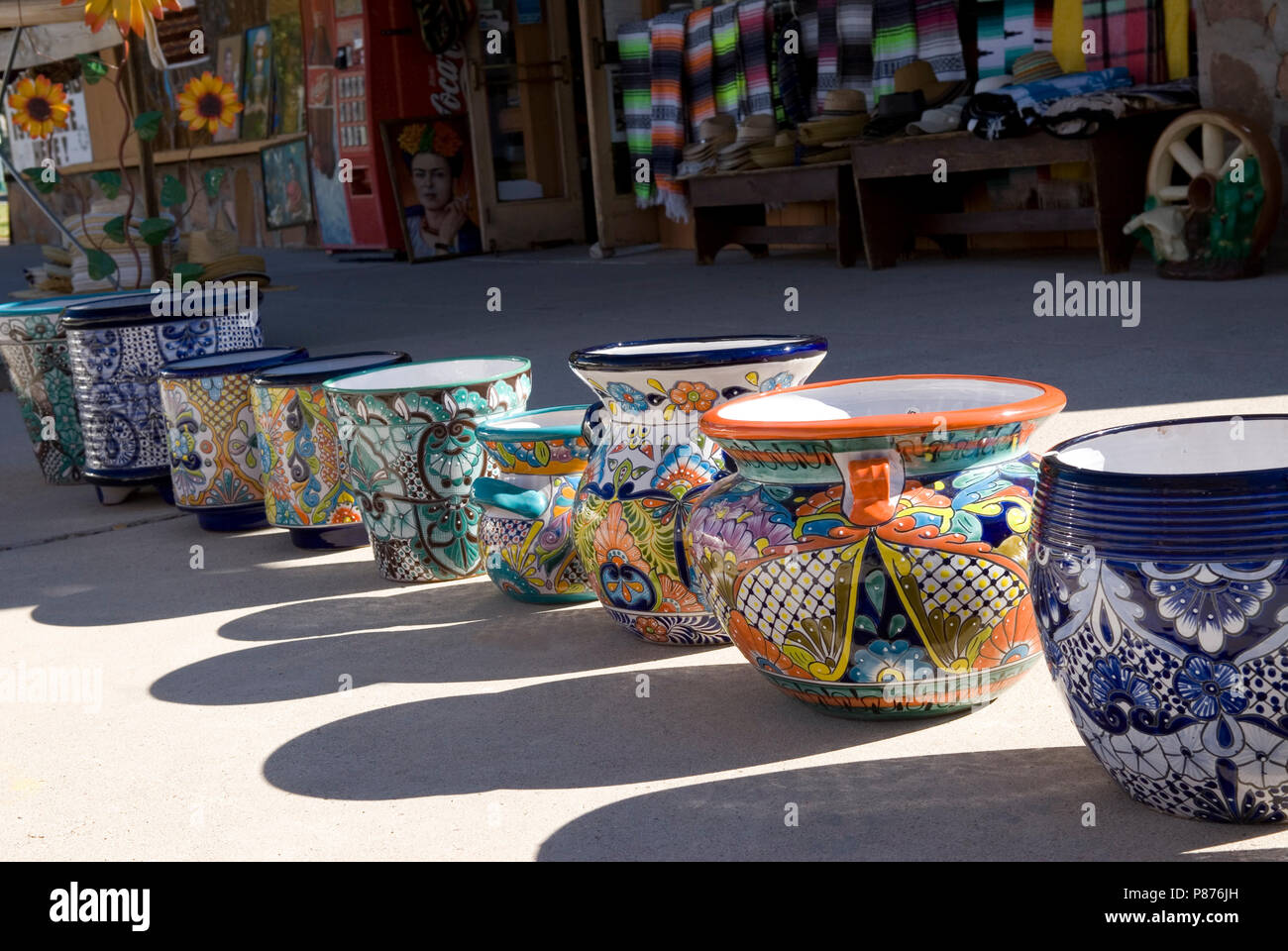 Pottery on sale at Boulder City, Nevada USA Stock Photo