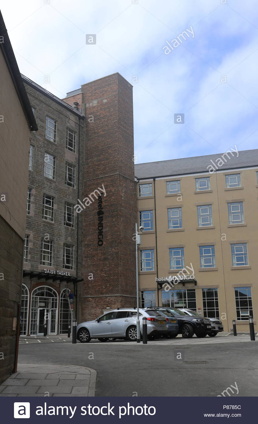 Hotel Indigo courtyard Dundee Scotland  July 2018 - Stock Image