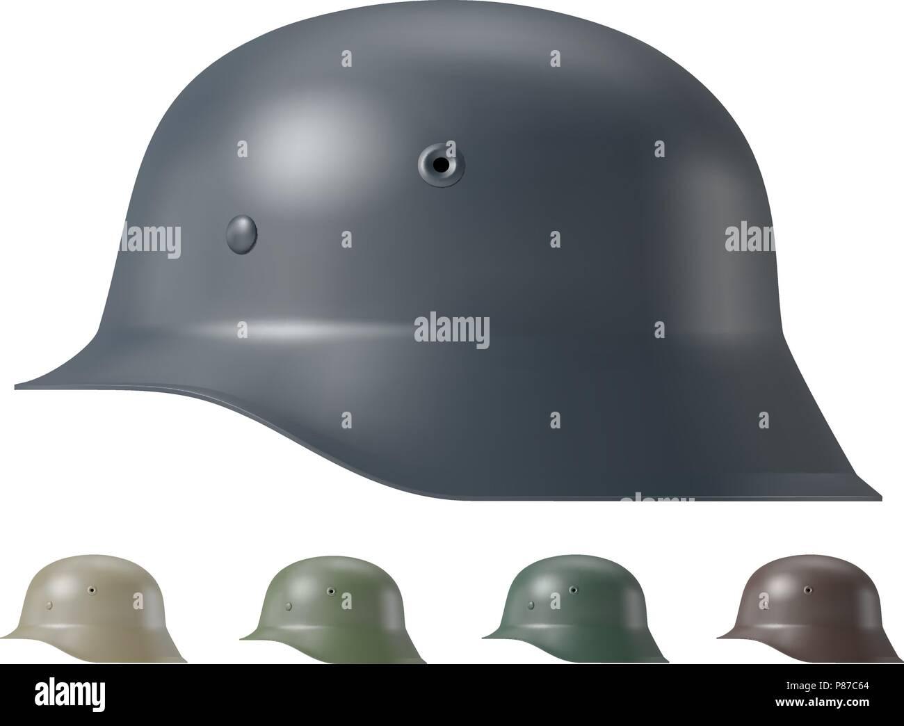 German ww2 military helmet - Stock Vector