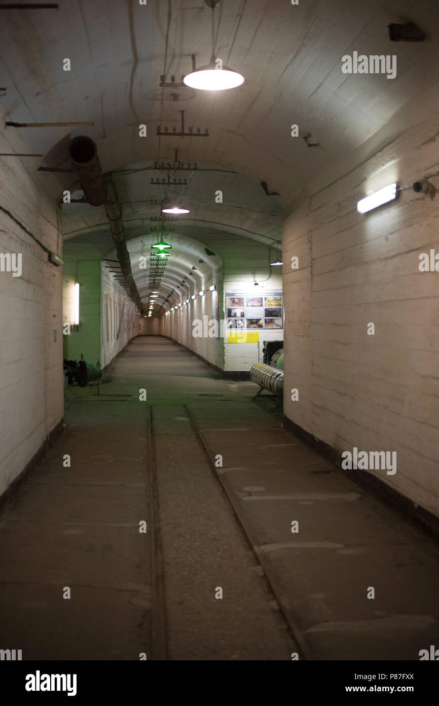 tunnel in a concrete bunker - Stock Image