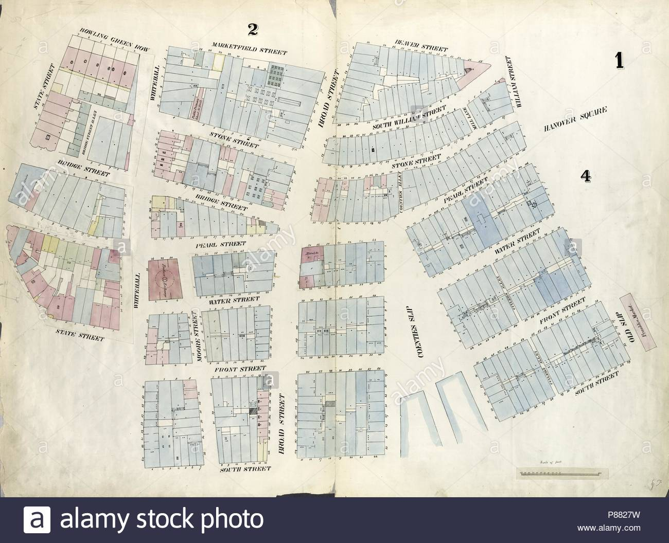 Plate 1: Map bounded by Battery Place, Marketfield Street, Broad