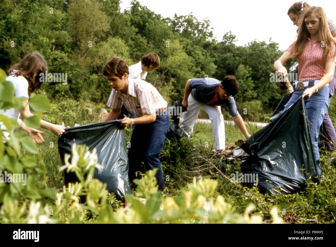 Public School Students Work on Ecology Project, May 1972 Stock Photo