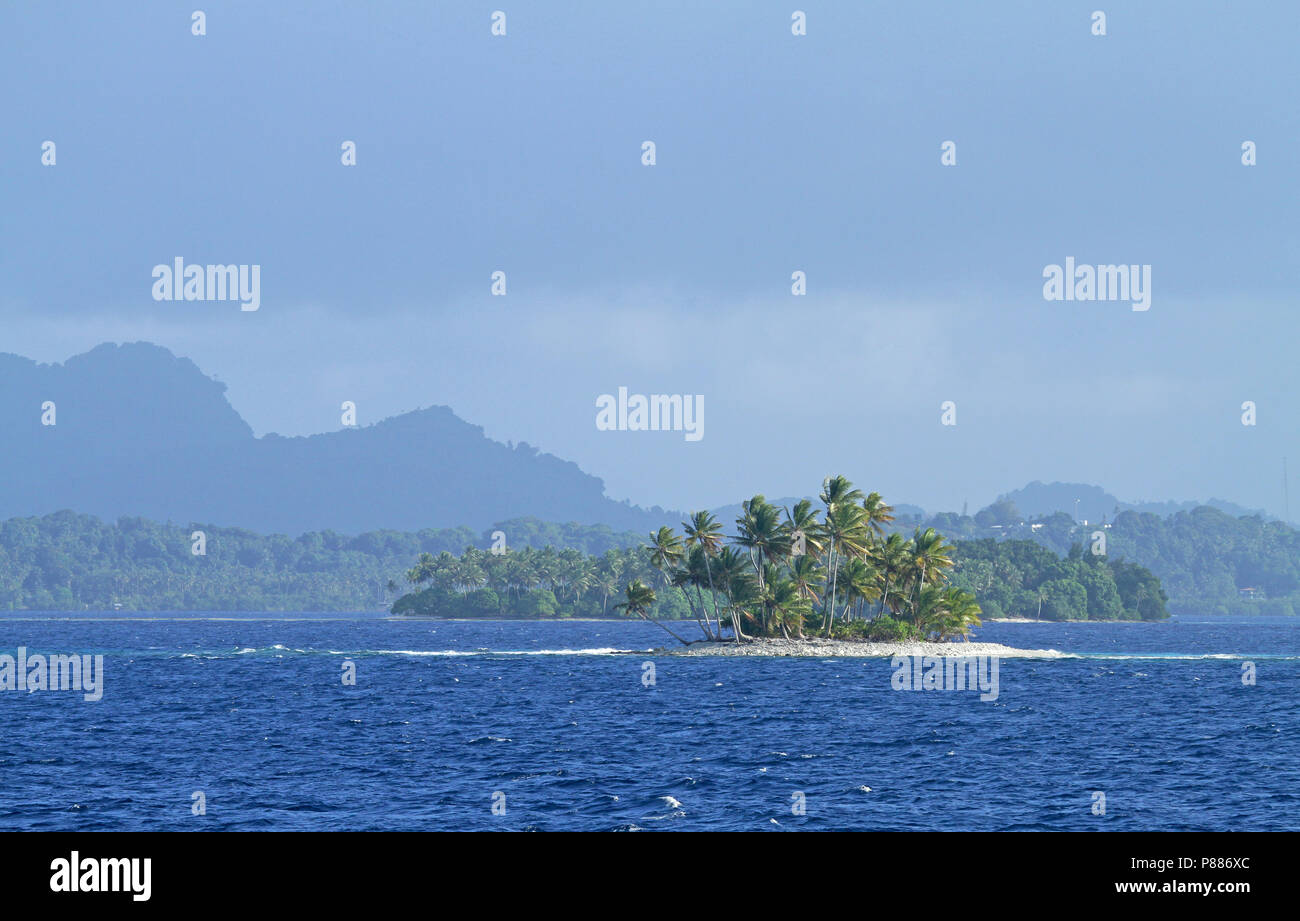 At sea between Solomons and Micronesia - Stock Image