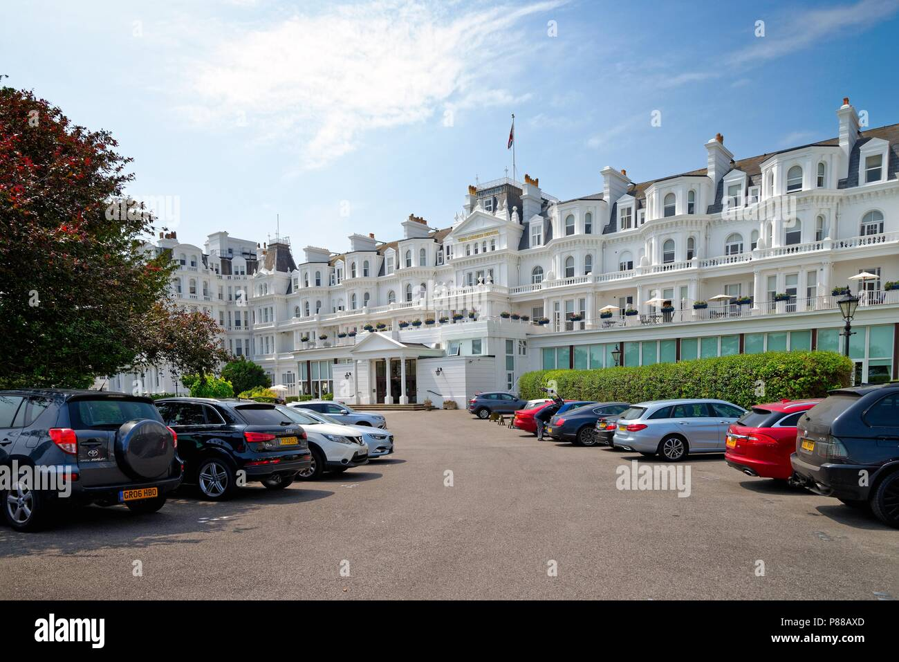 Exterior of The Grand Hotel on the seafront at Eastbourne