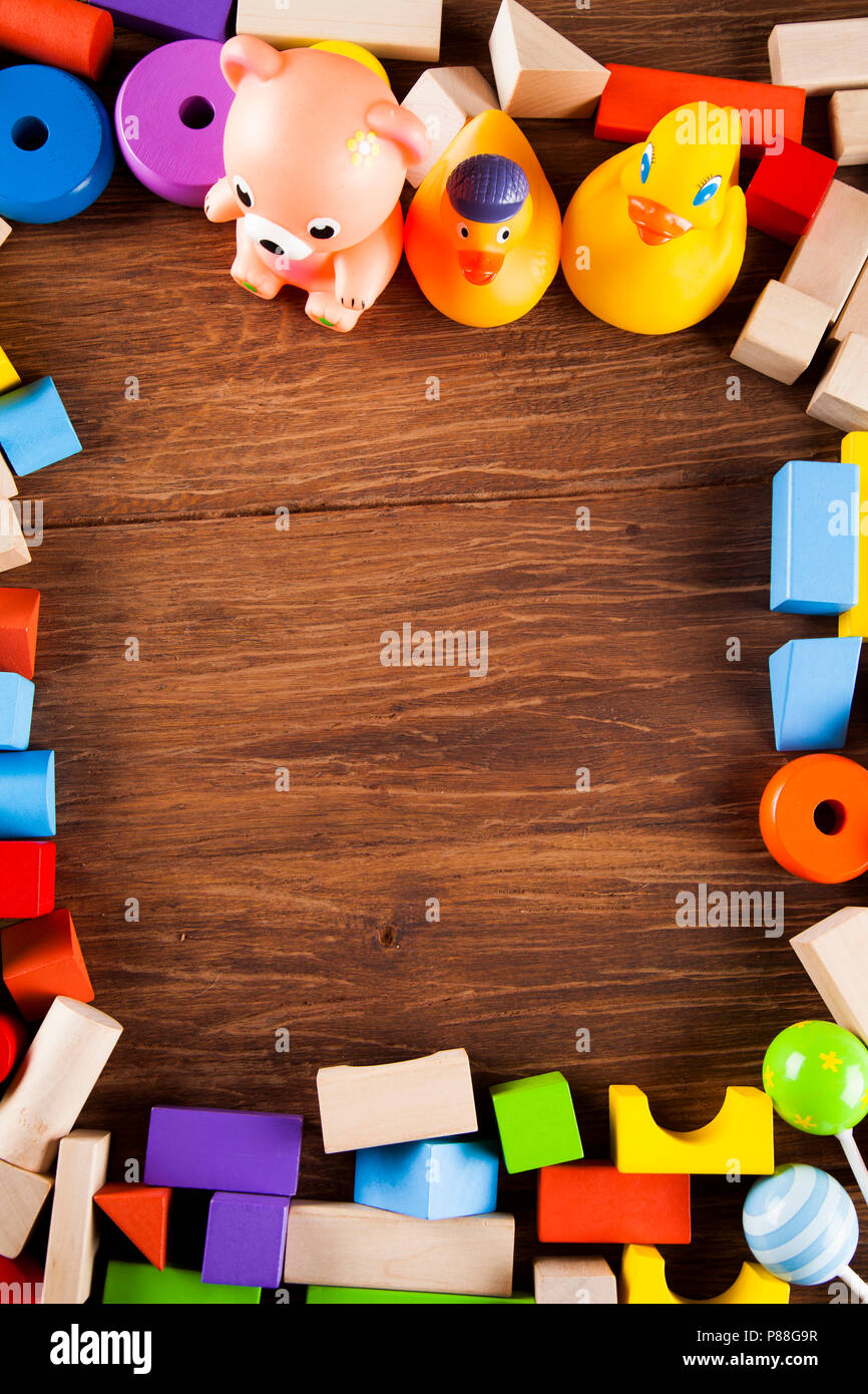 Toys, frame made of accessories for children Stock Photo: 211630099 ...