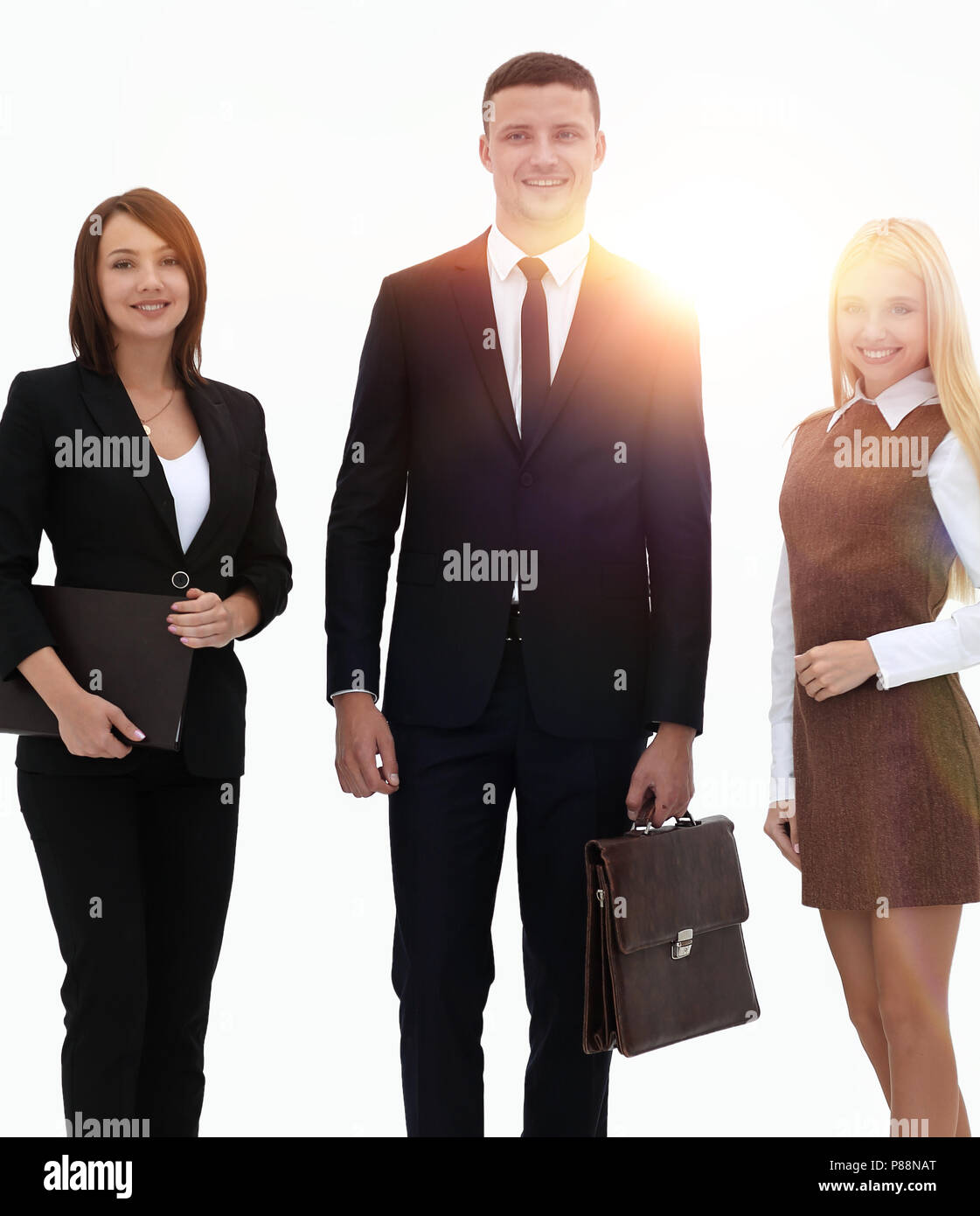 portrait in full growth. professional business team. - Stock Image