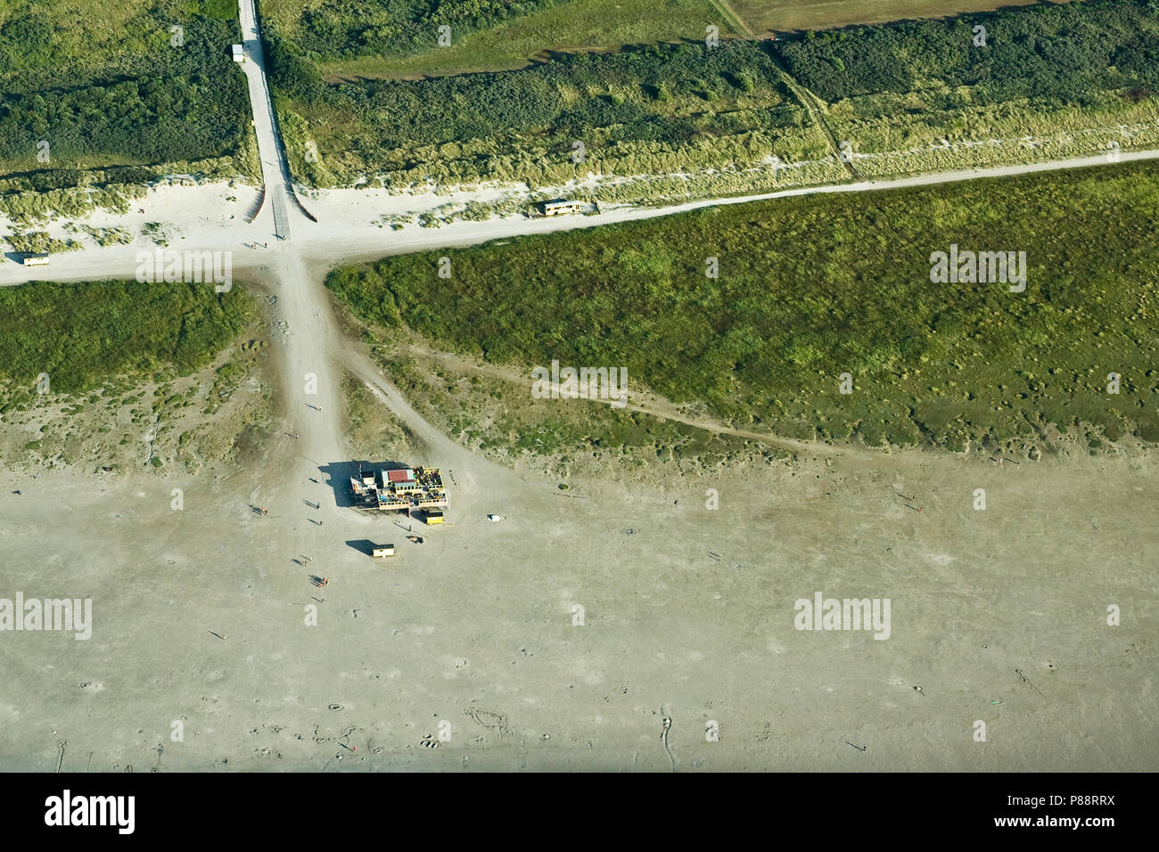 Dutch landscape seen from the air. The Netherlands photographed from above. Stock Photo