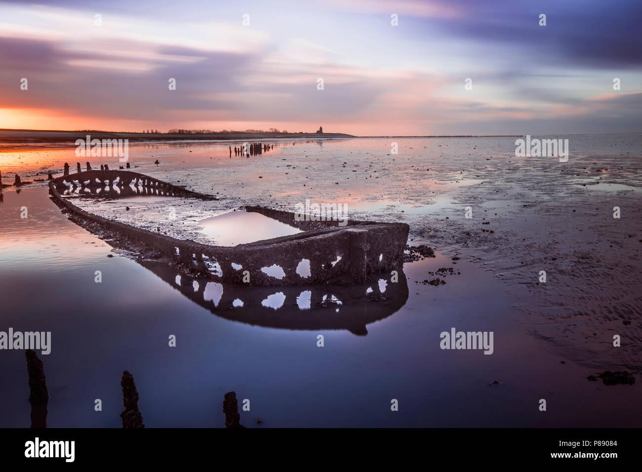 Scheepswrak; Ship wreck Stock Photo