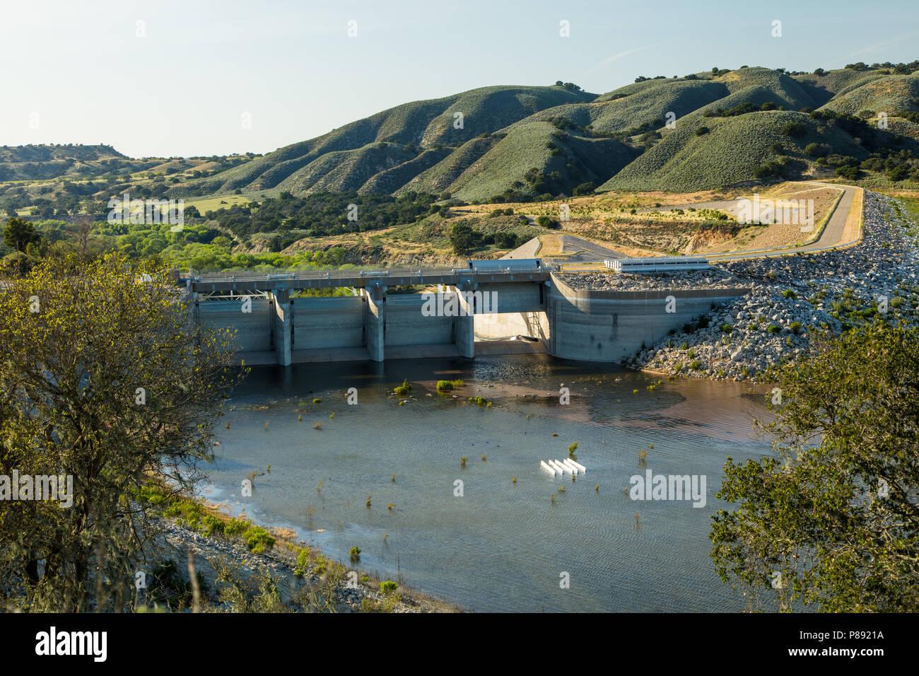 Santa ynez river stock photos santa ynez river stock images alamy lake cachuma dam in the drought in santa ynez valley california stock image freerunsca Gallery