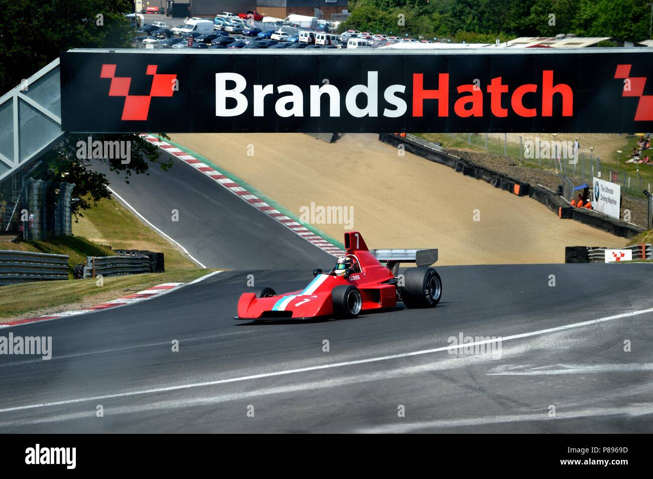 Brands Hatch car racing - Stock Image
