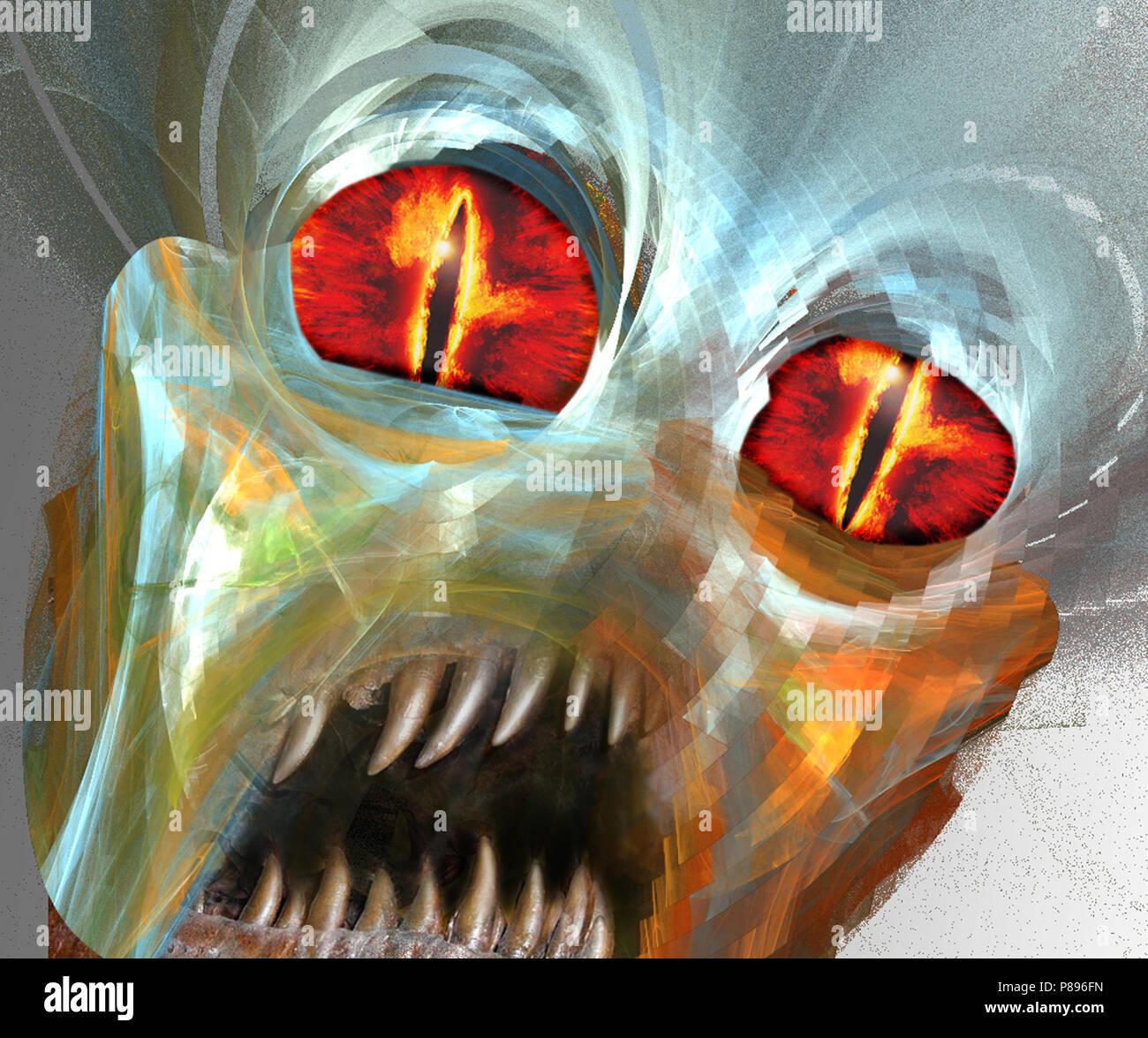 space alien illustration - Stock Image