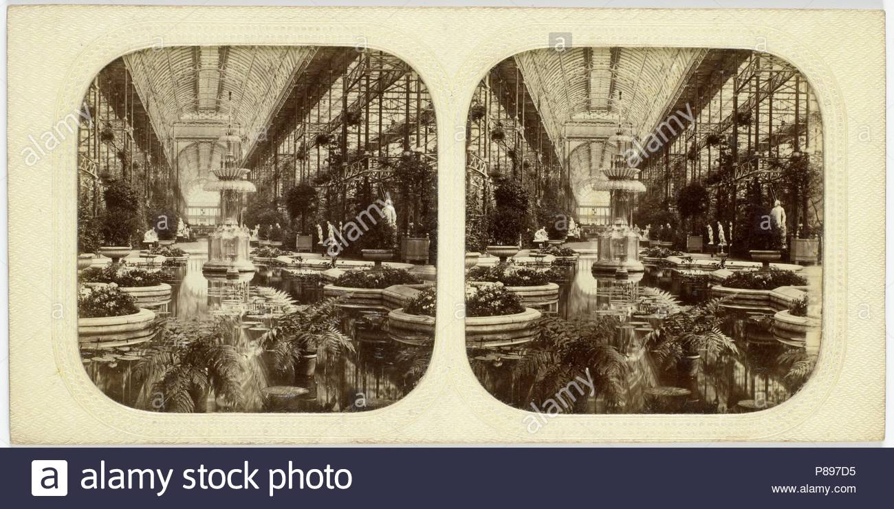 Engeland, Londen, Crystal Palace, Sydenham UK, attributed to The London Stereoscopic Company, 1854 - 1859. - Stock Image