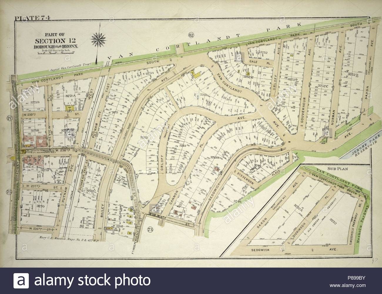 Plate 74, Part of Section 12, Borough of the Bronx. Bounded by Van ...