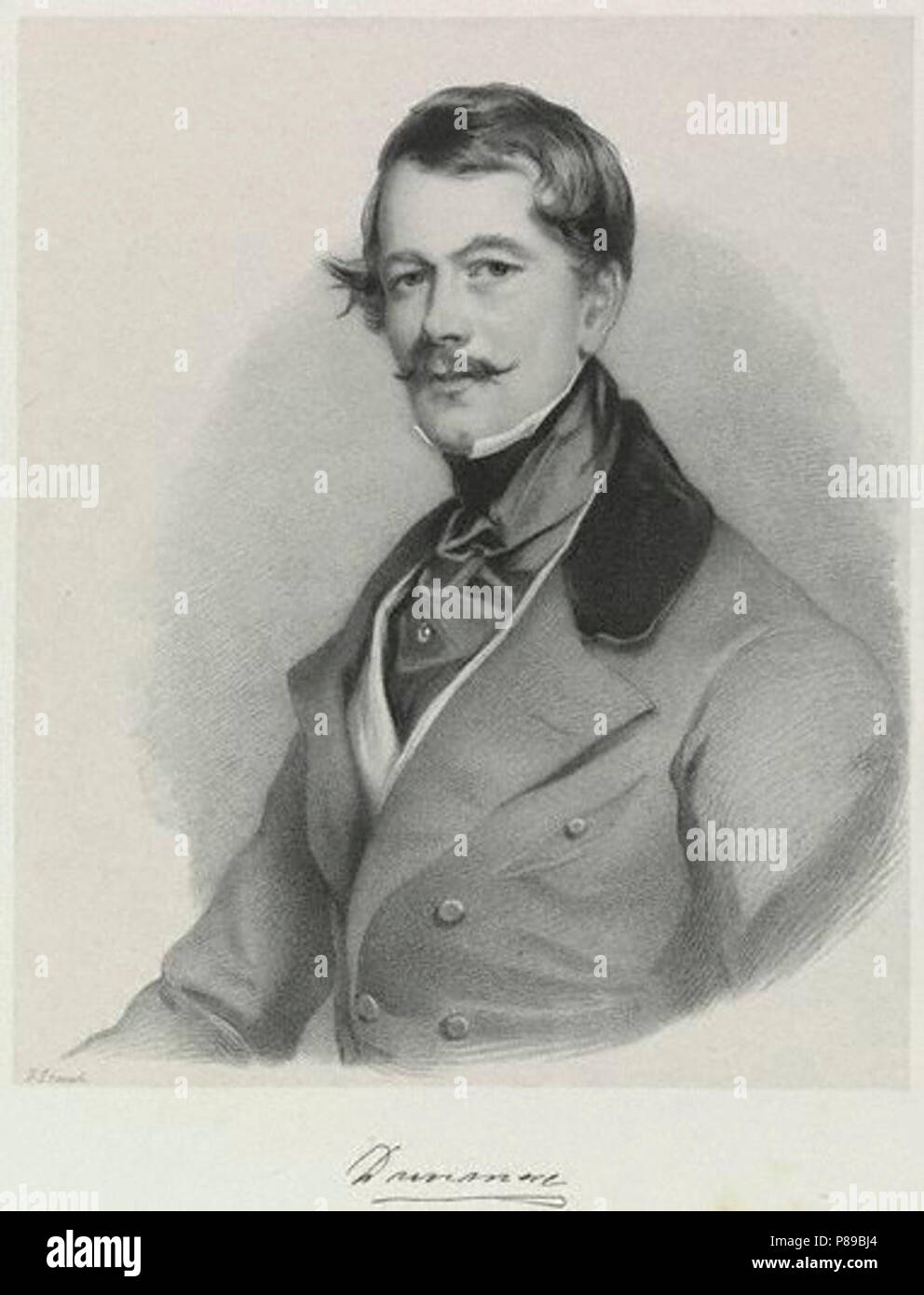 6th  Earl  of Dunmore. by; after Richard James Lane; Sir Francis Grant,print,1846 - Stock Image