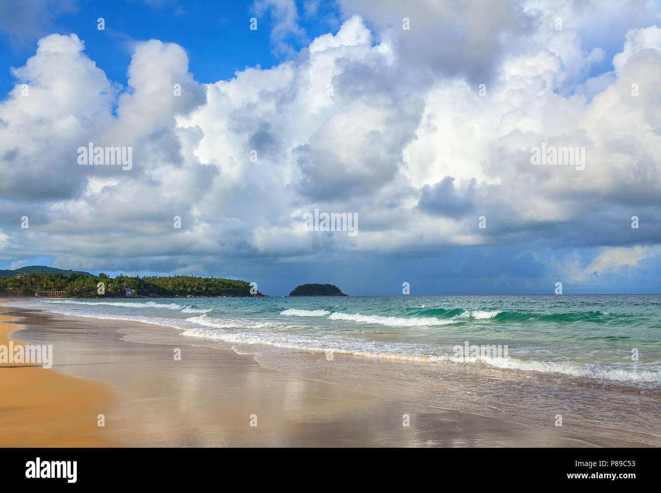 Beautiful nature of Thailand. Karon beach on Phuket island. - Stock Image