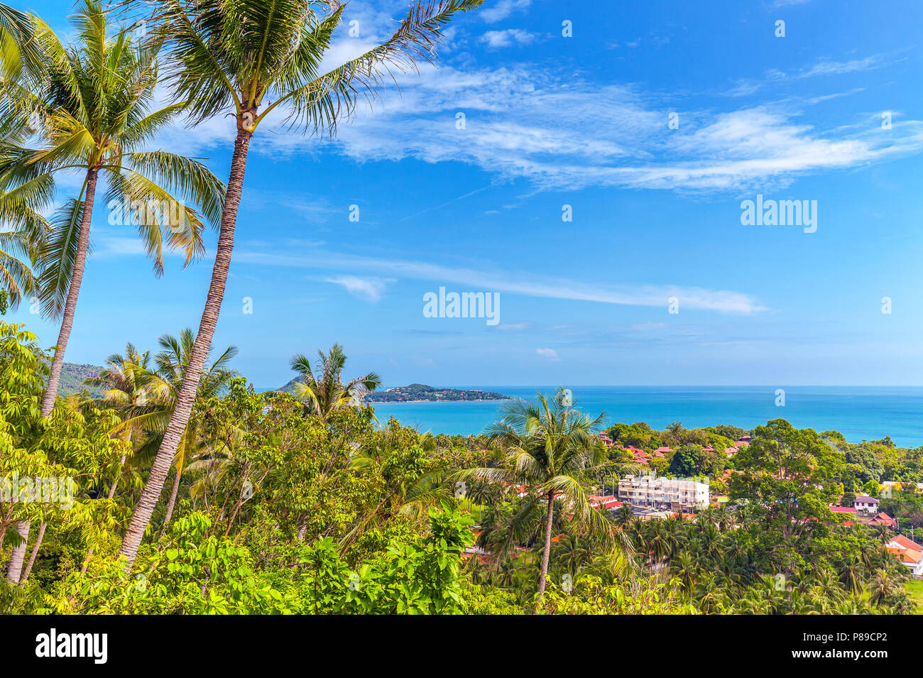 Panorama of Koh Samui in Thailand. - Stock Image