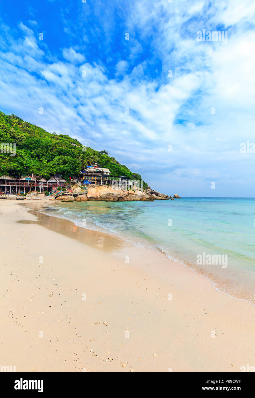Haad Rin beach. Venue of the famous Full Moon Party. Koh Phangan. Thailand. - Stock Image