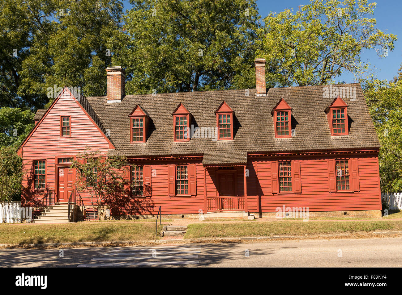 George Davenport House in Colonial Williamsburg. - Stock Image