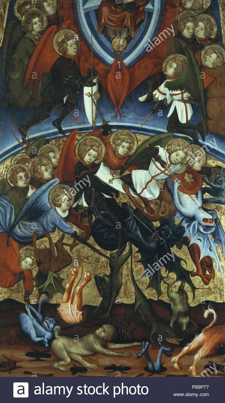 Tabla De La Caida De Los Angeles Rebeldes 1406 Pintura Al Temple