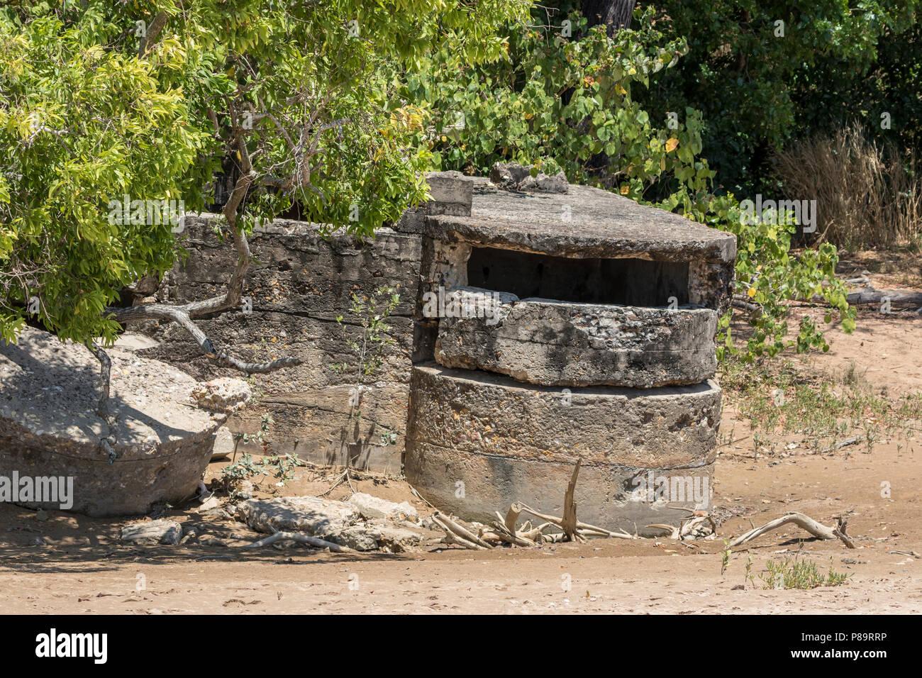 WWII bunker on Casuarina Beach, Darwin, Northern Territory - Stock Image
