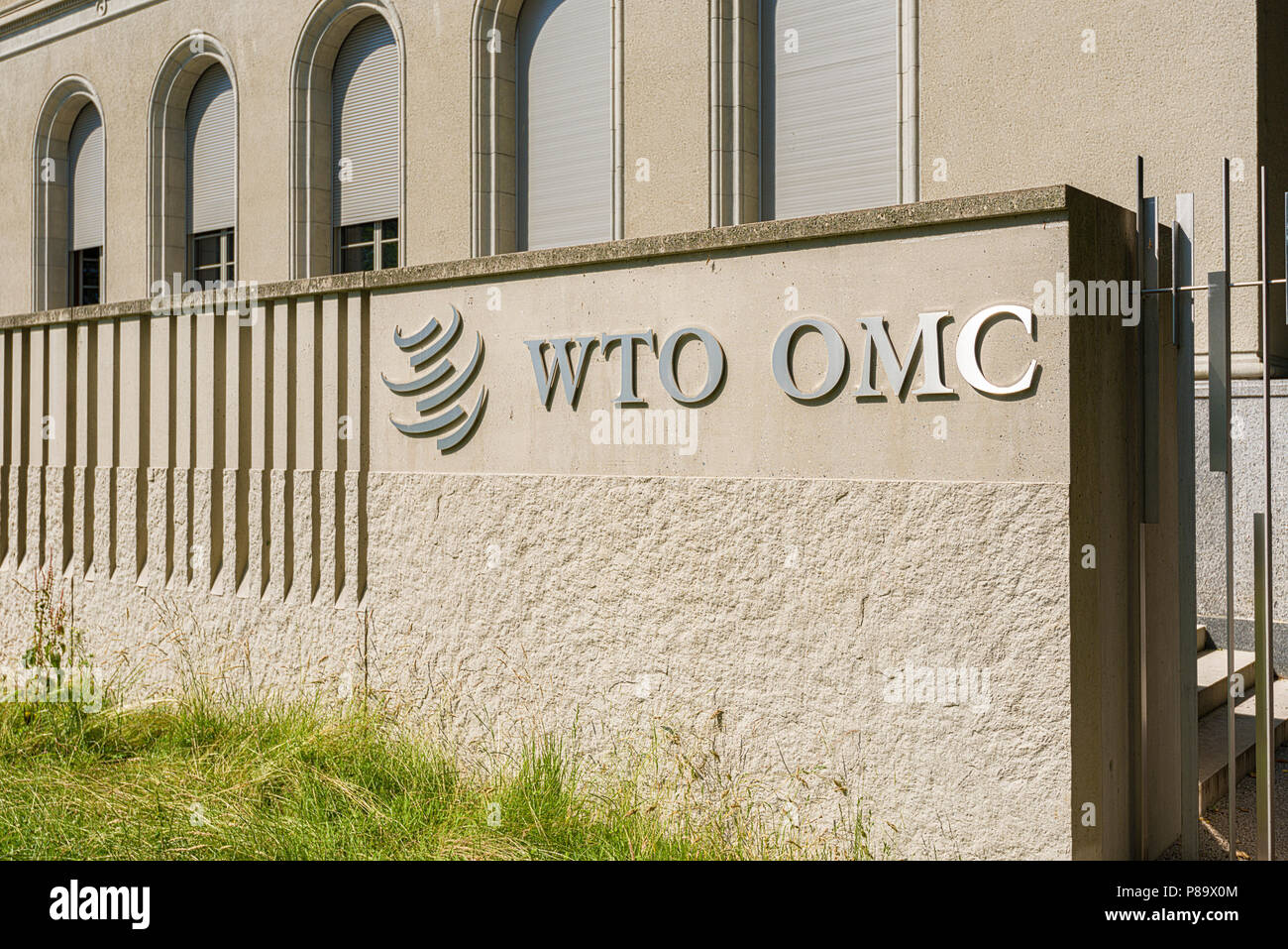 Geneva, Switzerland - june 10, 2018 : The headquarters of the World Trade Organization (WTO) is located in Centre William Rappard Stock Photo