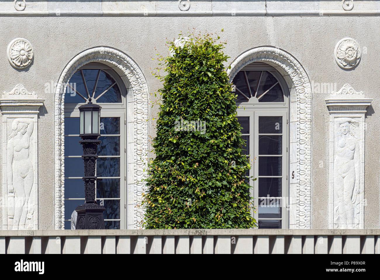 Geneva, Switzerland - june 10, 2018 : The headquarters of the World Trade Organization (WTO) is located in Centre William Rappard Stock Photo