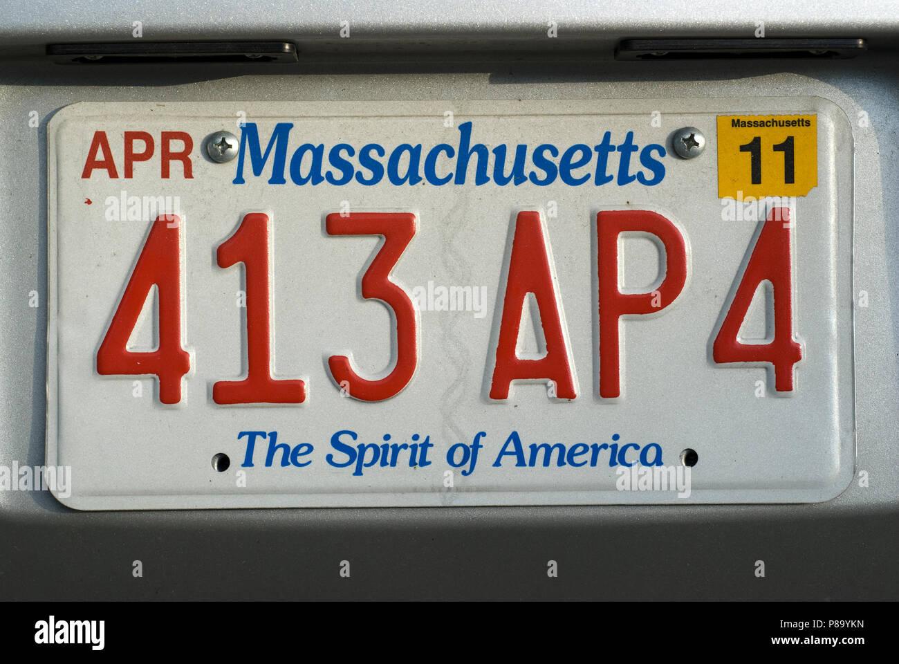 Massachusetts The Spirit of America License Plate Birdhouse