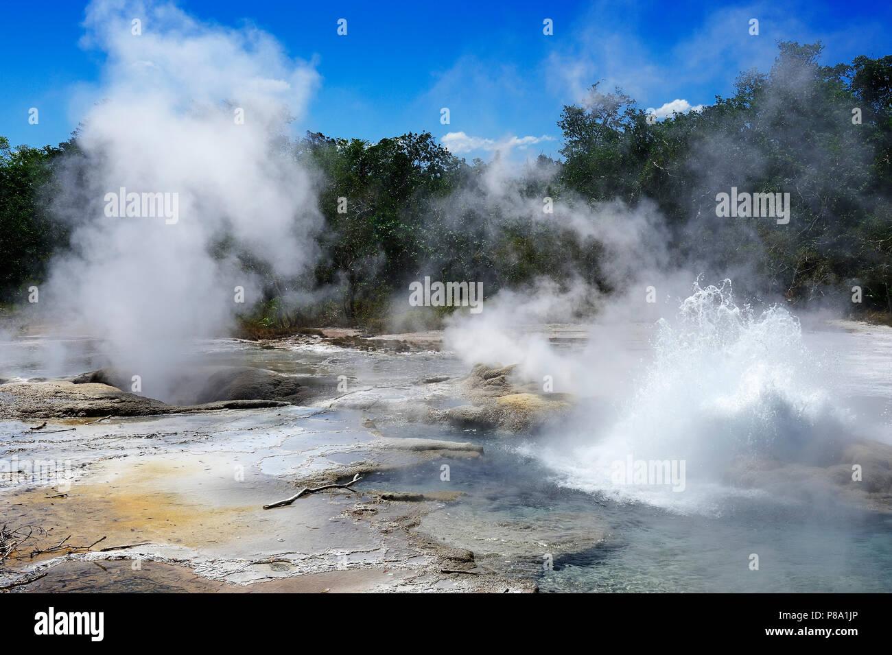Dei Dei Hot Springs, Ferguson Island, Milne Bay, Alotau, Papua New Guinea, Oceania - Stock Image