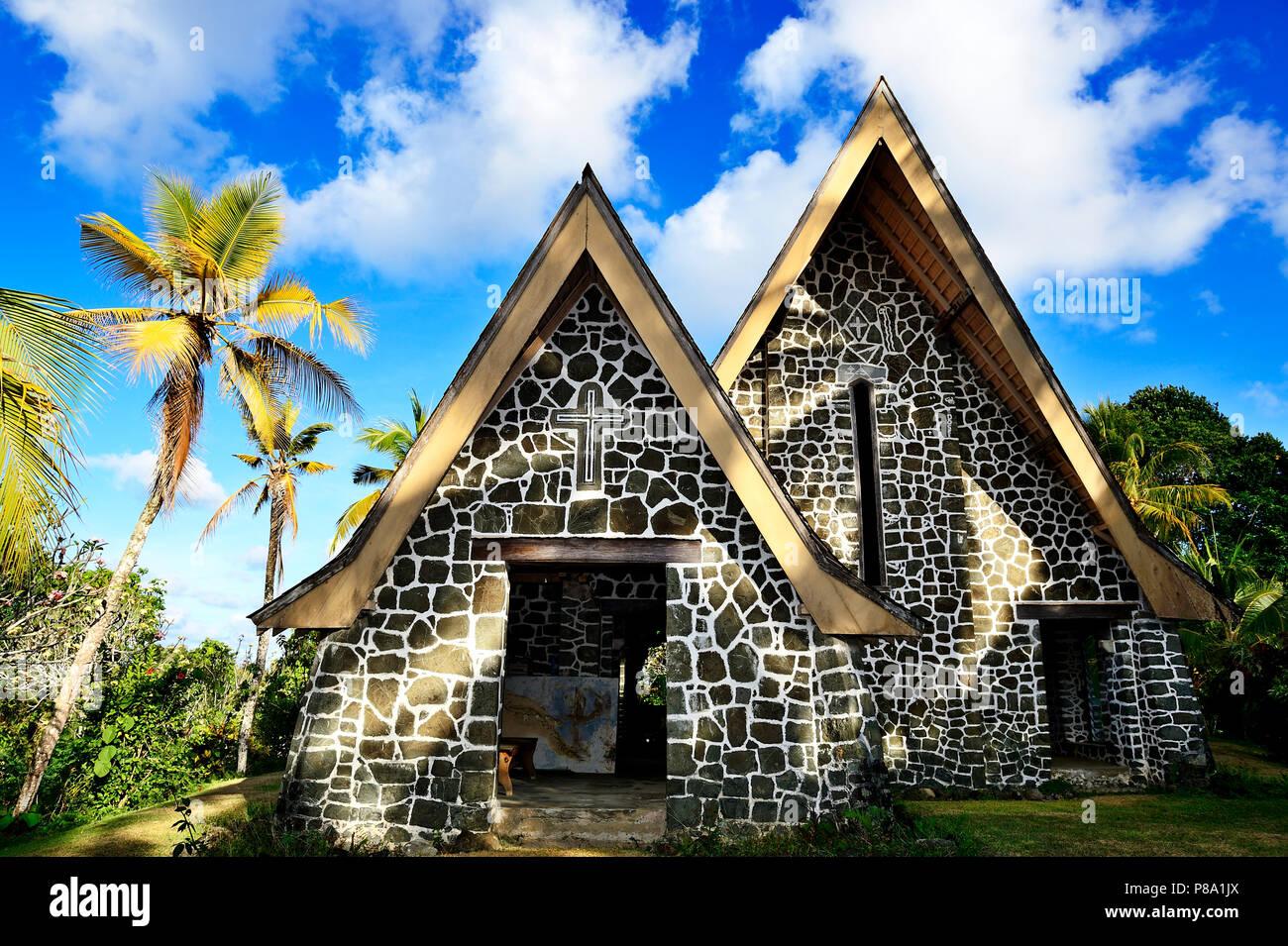 Church on Kwato Island, Milne Bay, Alotau, Papua New Guinea, Oceania - Stock Image