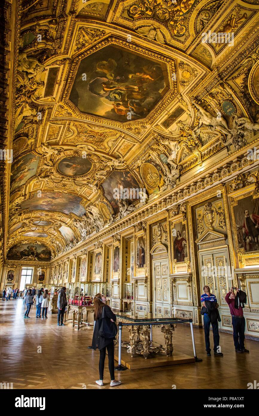 MUSEUM OF THE LOUVRE - Stock Image
