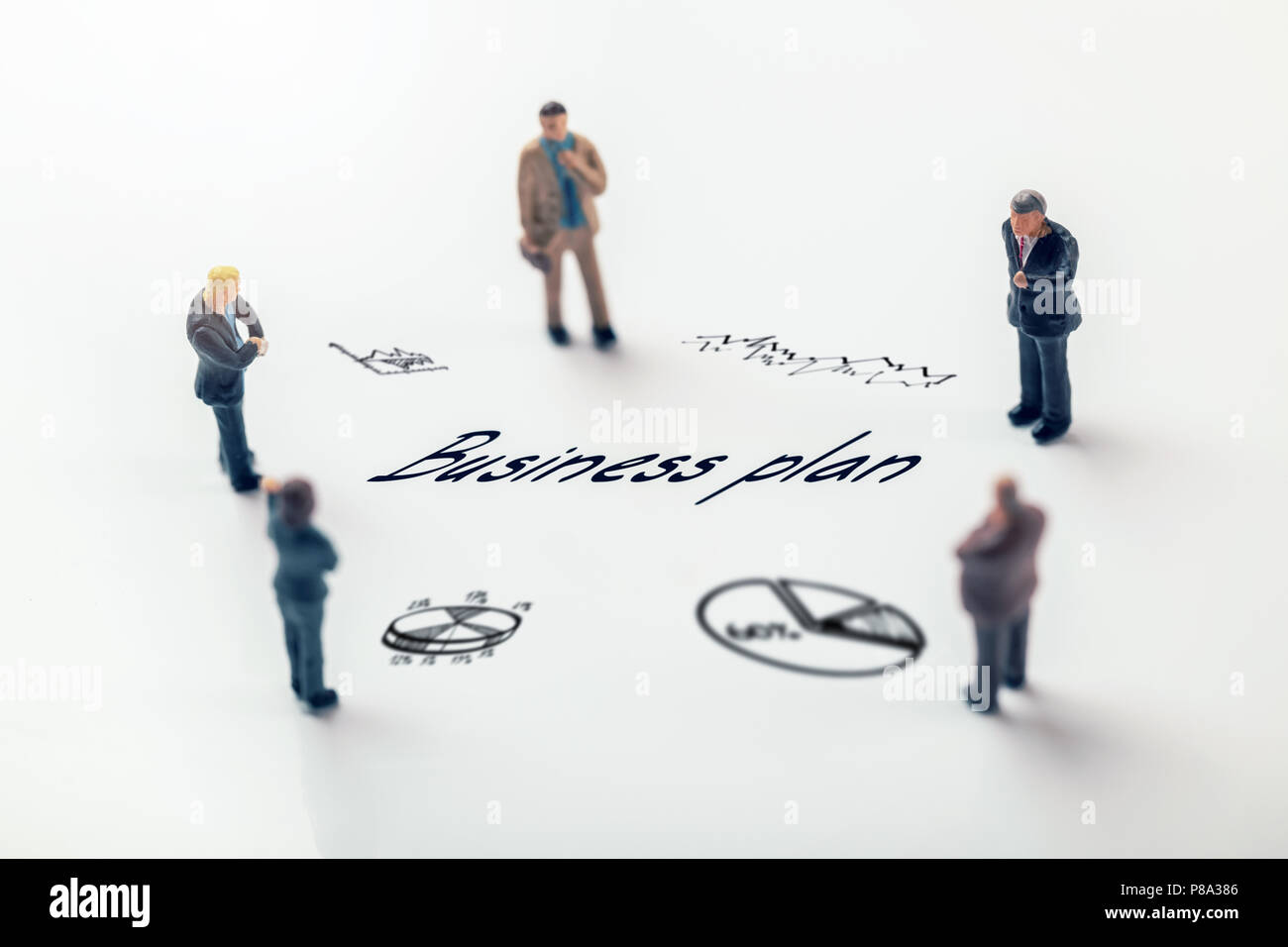 group of businessmen planning new business plan concept - Stock Image