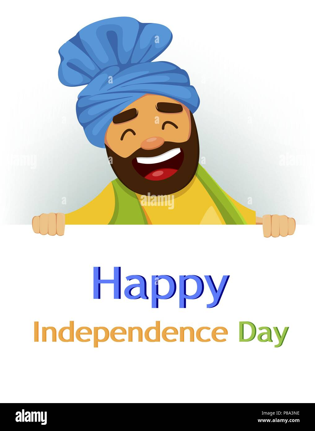 Happy Independence Day India Greeting Card Flyer Or Poster With