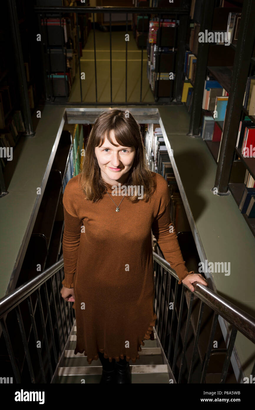 Portrait of Clare Pollard , poet and playwright - Stock Image