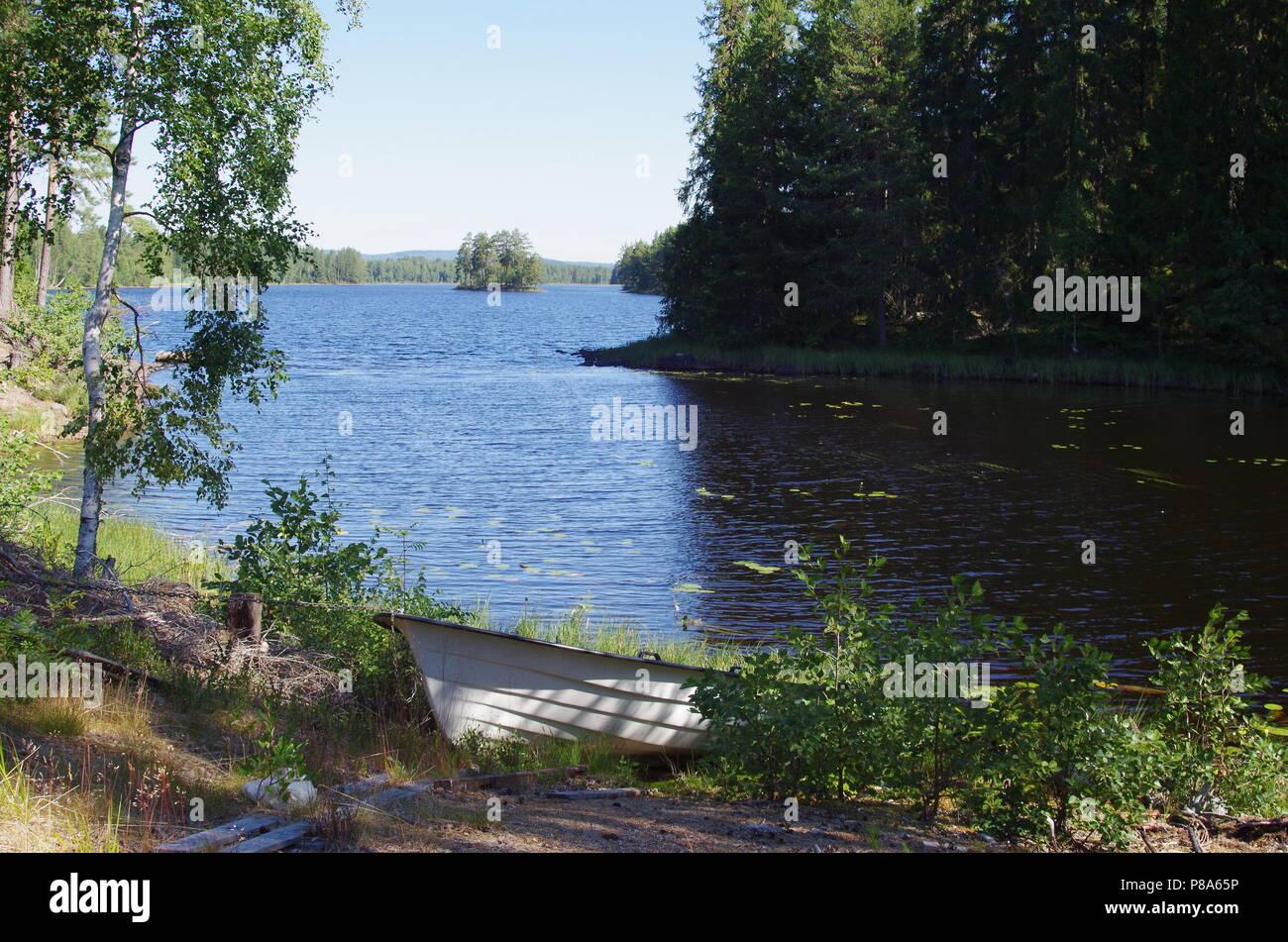 Scenic lake in the heart of Dalarna in Sweden - Stock Image