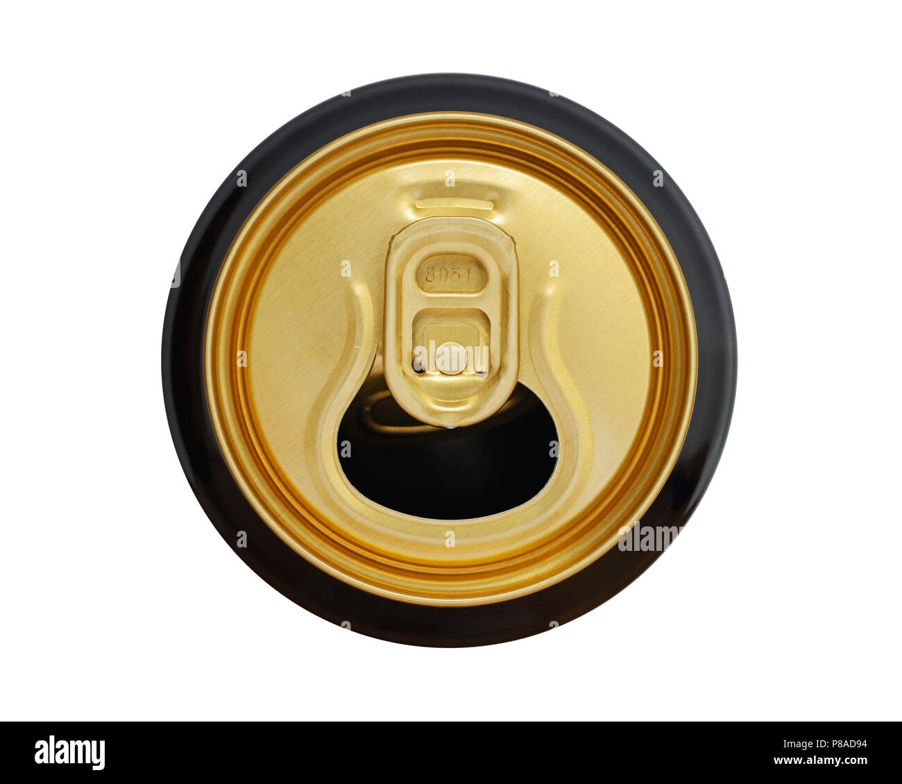 Drinks Can Top with Ring Pull, Cut Out - Stock Image