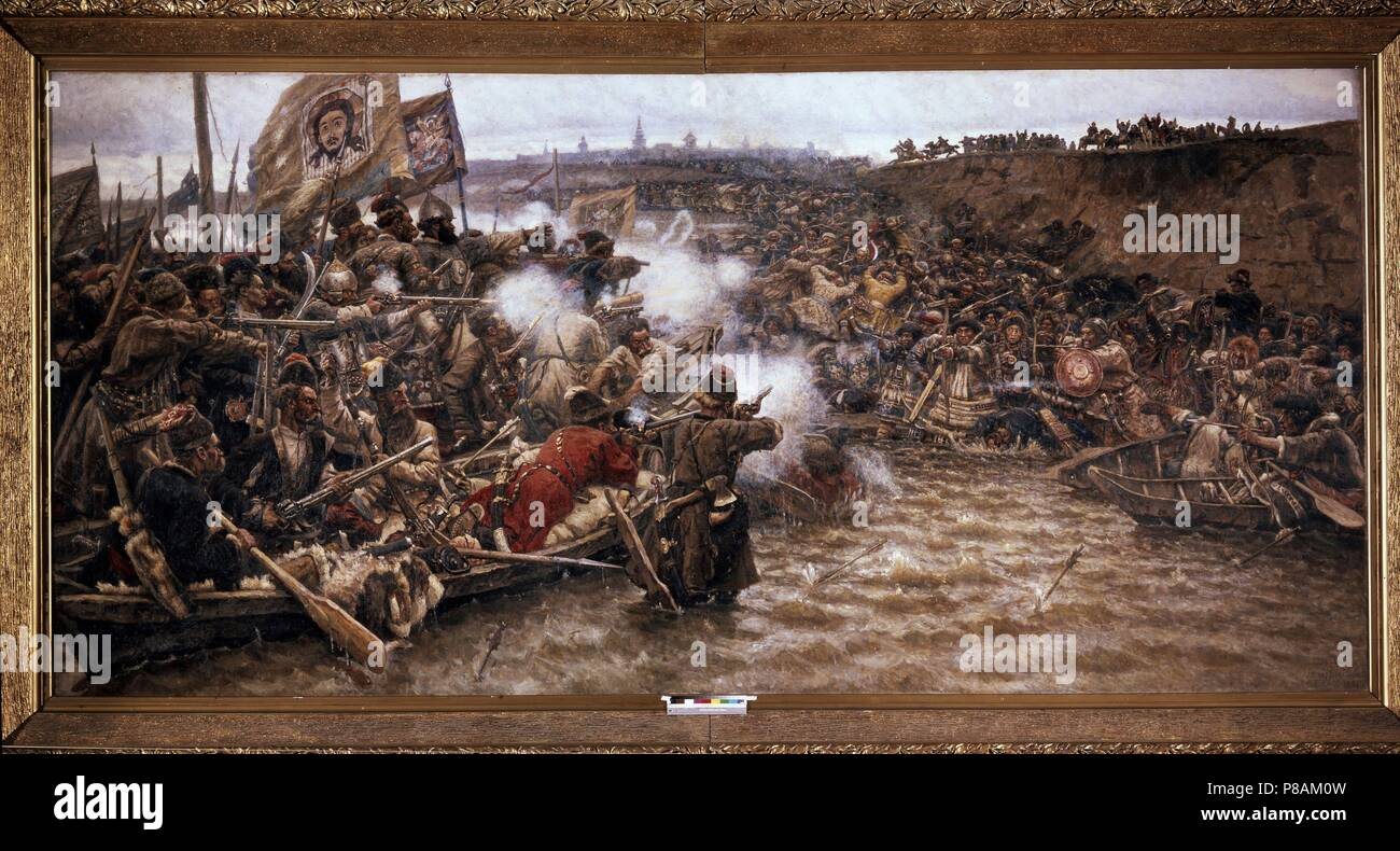 This glory does not die out in the centuries. Painting The Conquest of Siberia by Yermak