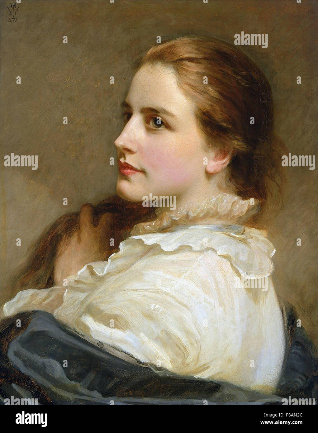 Wells  Henry Tanworth - Alice  the Artist's Daughter - Stock Image