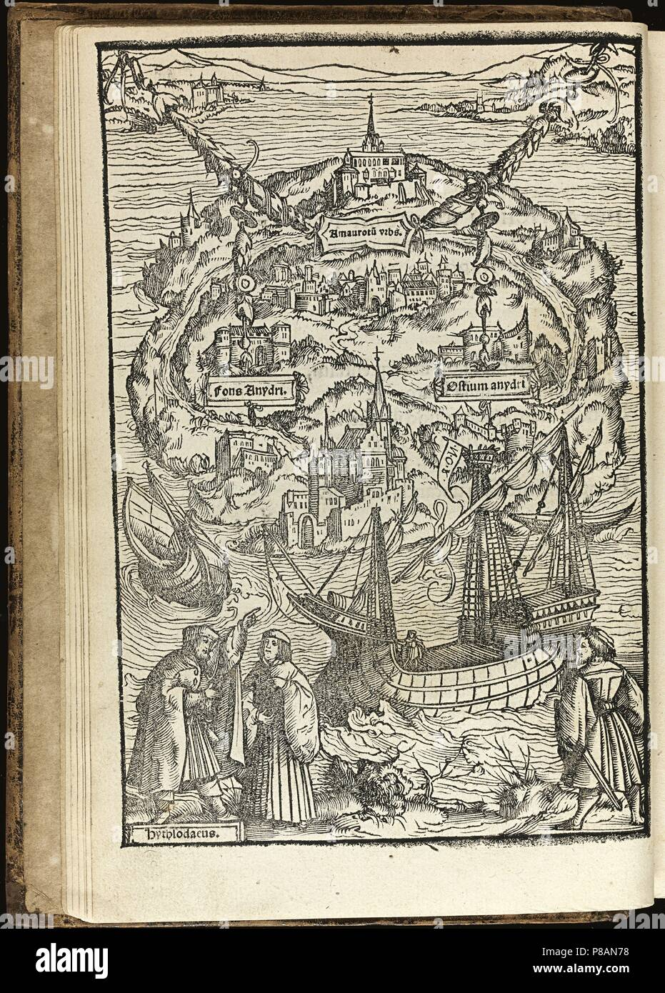 Utopia by Thomas More. Museum: PRIVATE COLLECTION. - Stock Image