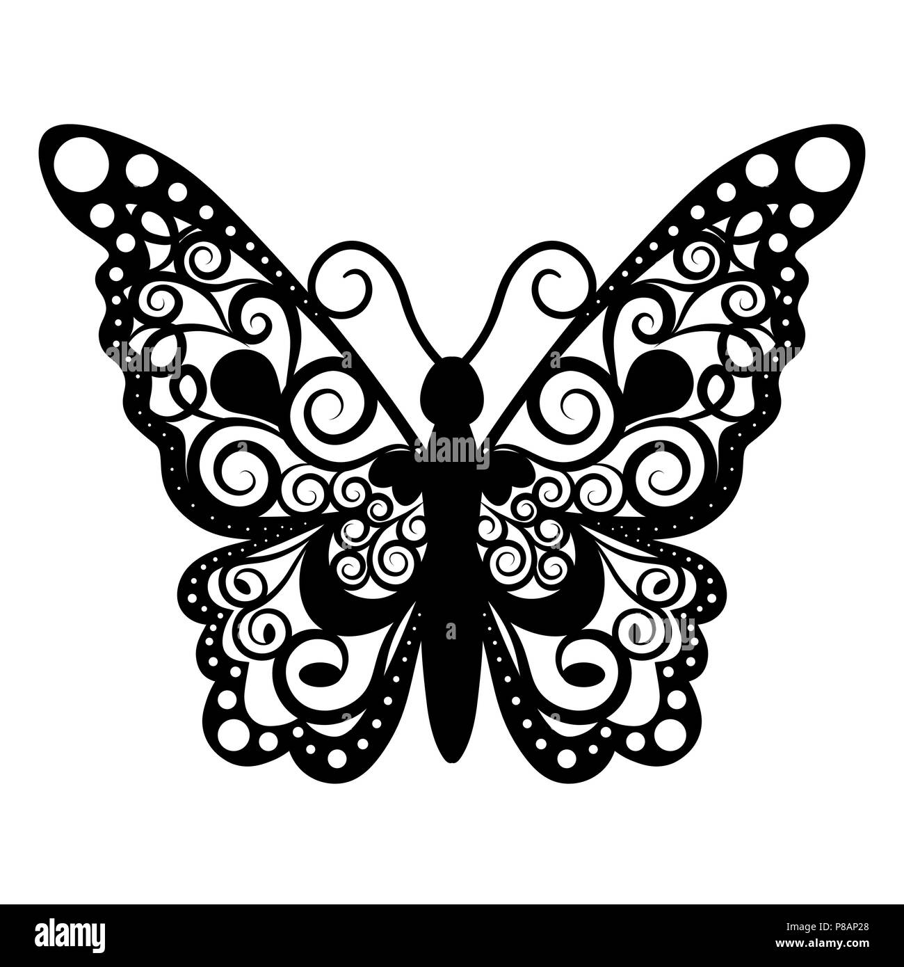 Butterfly Print Black And White Stock Photos Images Alamy