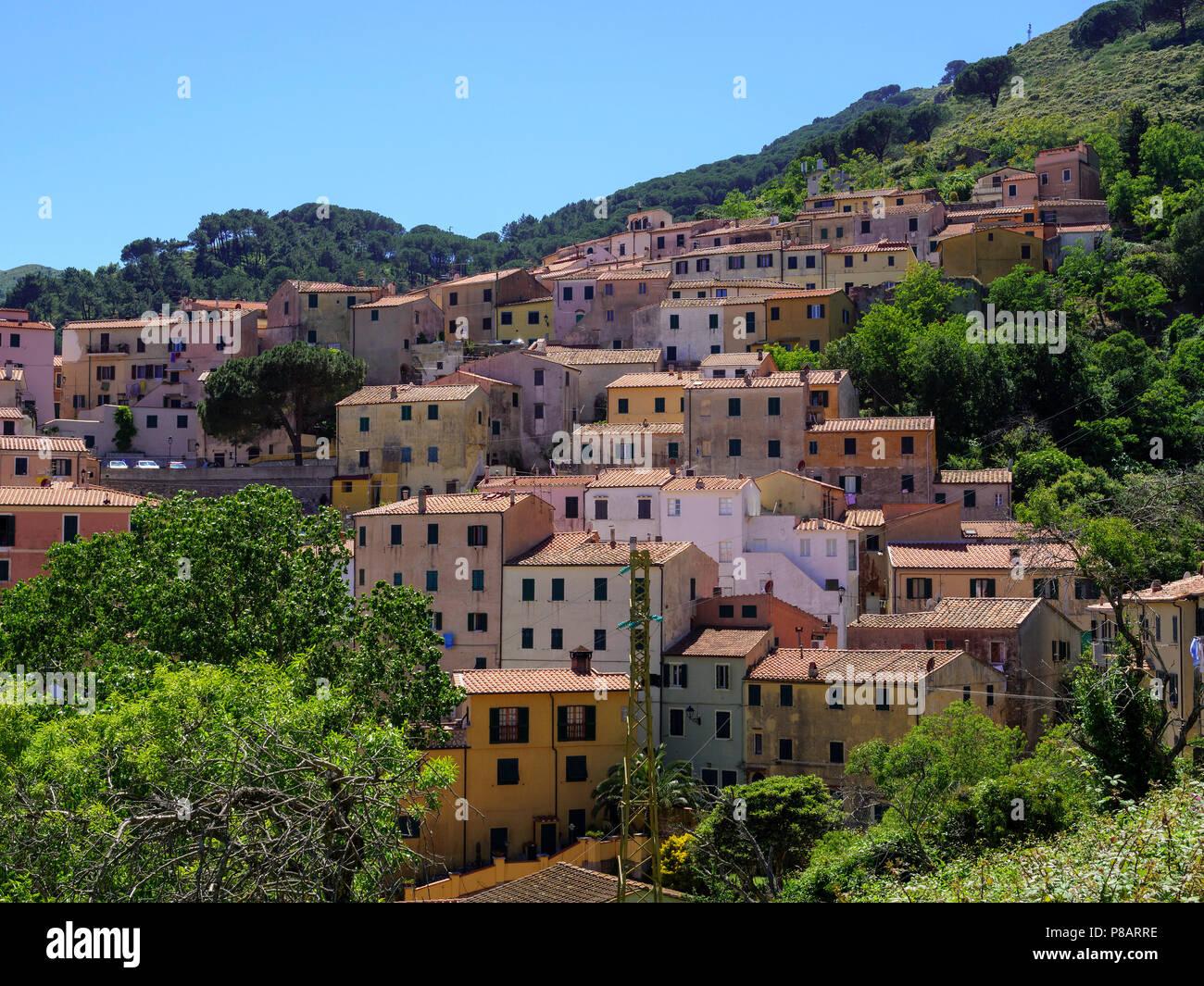 Blick auf Rio nell' Elba, Elba, Region Toskana, Provinz Livorno, Italien, Europa Rio nell' Elba, Elba, Region Tuscany, Province Livorno, Italy, Europe - Stock Image