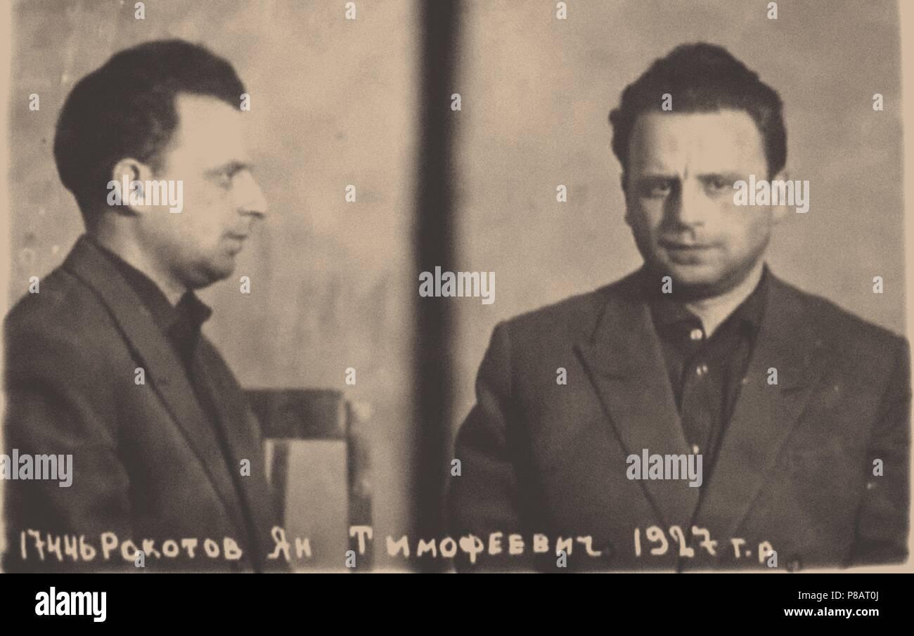 Jan Timofeyevich Rokotov. Museum: KGB Museum. - Stock Image