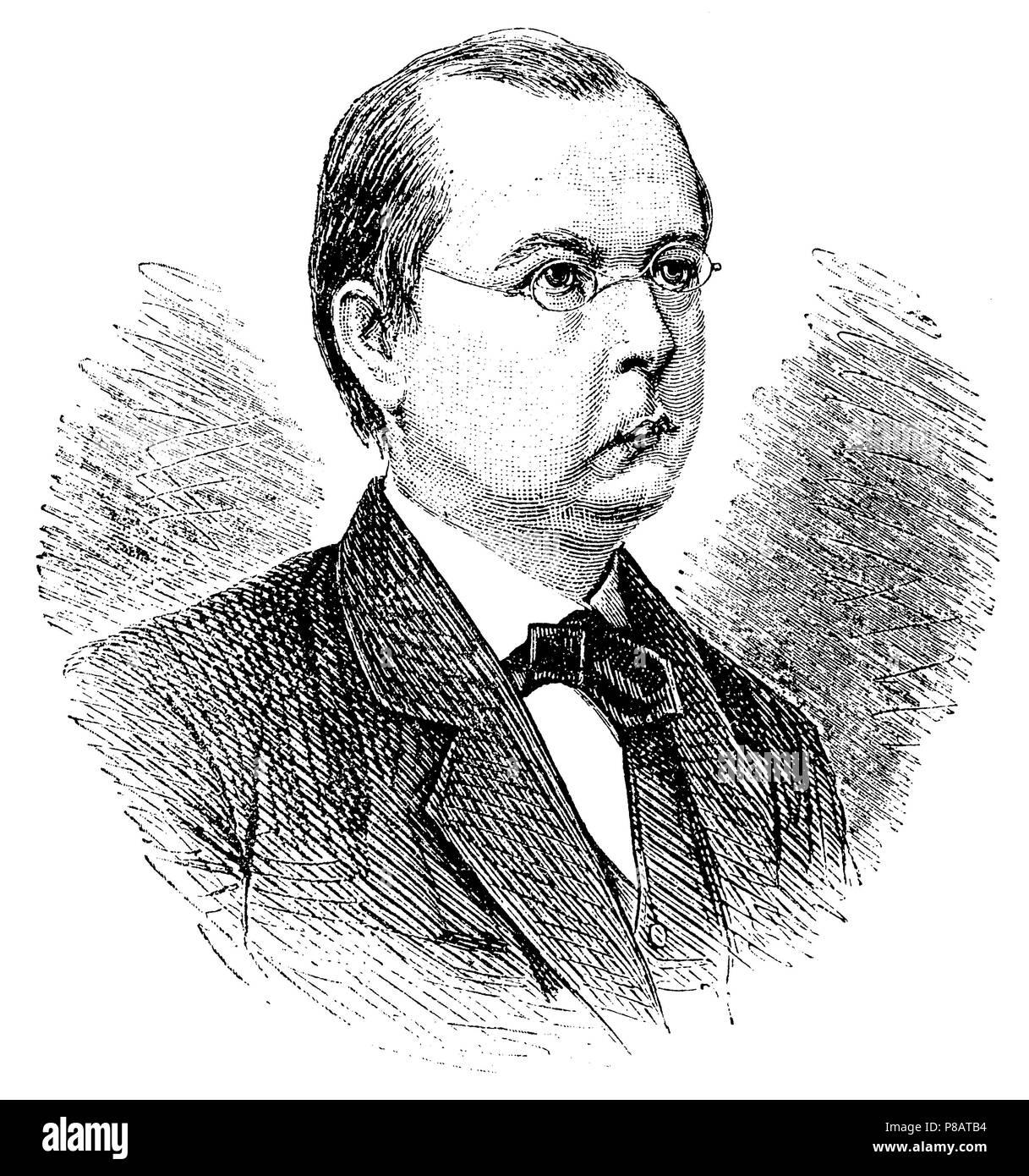 Zöllner, Karl Friedrich <1834-1882> German physicist, astronomer and spiritualist, - Stock Image
