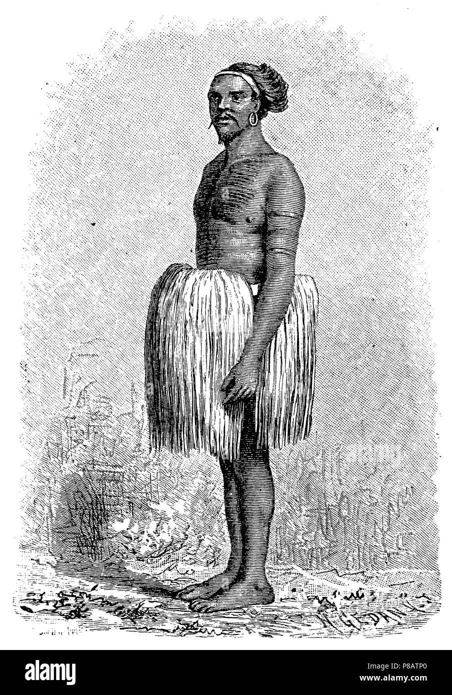 Chief of the Marshall Islands,   1904 - Stock Image