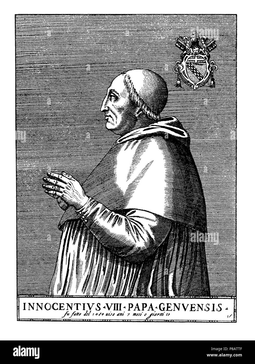 Elected pope in 1484, died 1492, 1923
