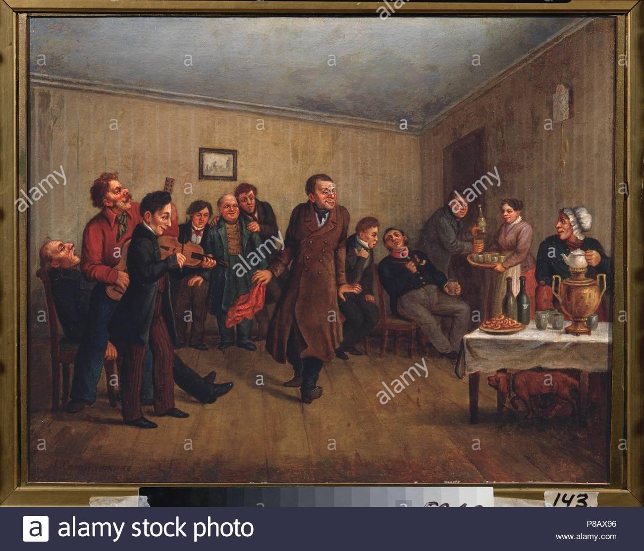 A Merchant's Evening Party. Museum: Regional Art Gallery, Volgograd. - Stock Image