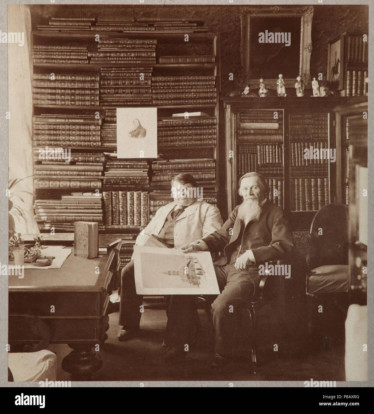 Pyotr Alexandrovich Yefremov and Alexey Petrovich Bakhrushin. Museum: Russian State Archive of Literature and Art, Moscow. - Stock Image