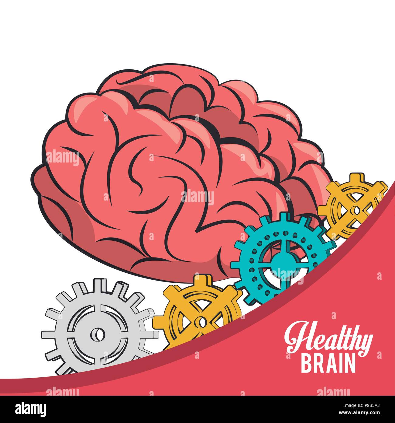 Healthy brain concept - Stock Image