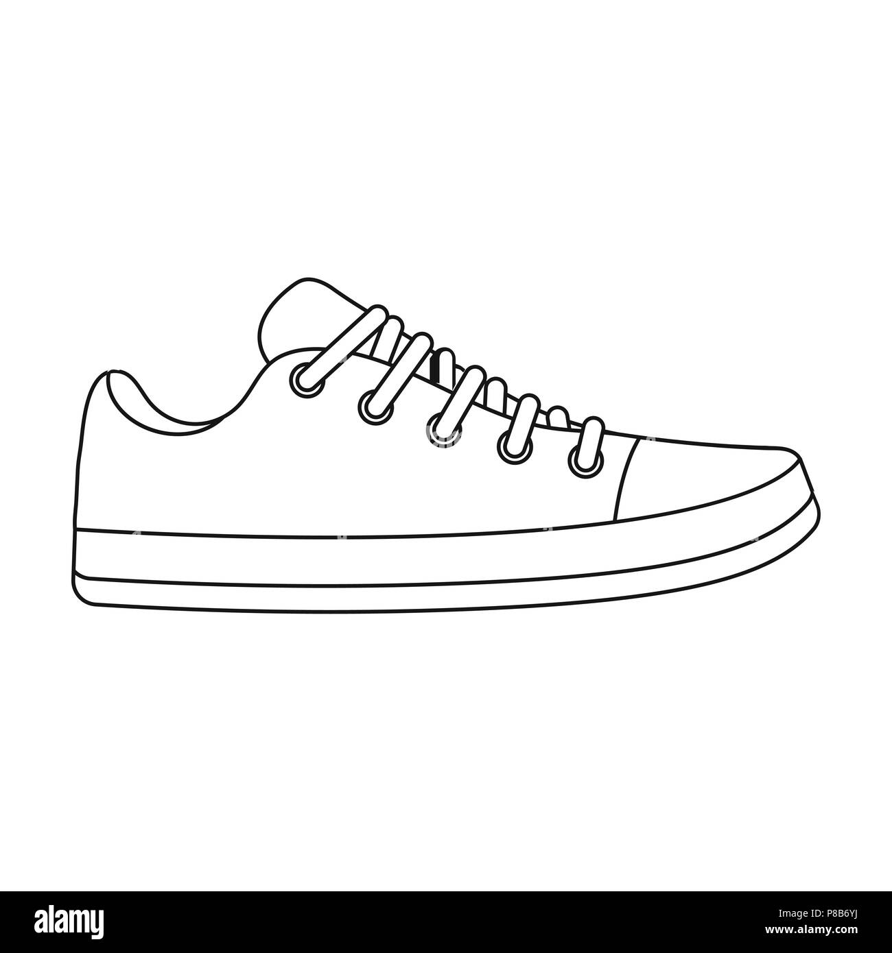 Gumshoes Icon In Outline Style Isolated On White Background Shoes