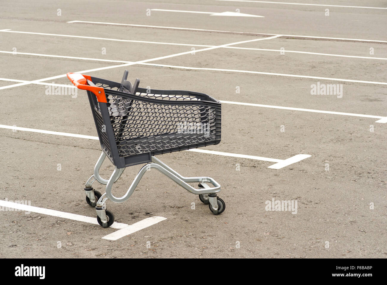 Trolley for products from the super market - Stock Image