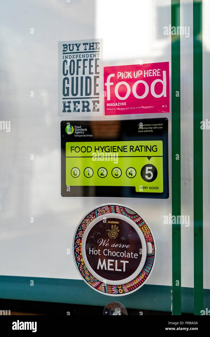Food hygiene sticker - Stock Image